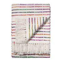 ⭐Rainbow Threads 125x150cm Cotton Striped Sofa Settee Bedspread Throw Fair Trade