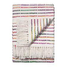 Fair Trade Rainbow Threads 125x150cm Cotton Striped Sofa Settee Bedspread Throw