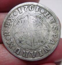 1761 JP (SPAIN) 2 REALES (SILVER) --nice--- colonies---