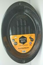 Granite Ware Open Roasting Pan 19 x 12.75 x 3.5 Made in USA 22 lb capacity