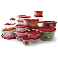 Plastic Food Storage Container 50-Piece Set Easy Find Lids Rubbermaid BPA-Free