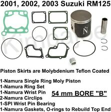 53.95mm Namura Size B Piston Kit 2001-2003 Suzuki RM125 Standard Bore 54mm