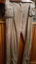 Y & KEI VELOUR LADIES/WOMEN CARGO STYLE PANTS SIZE 31/40
