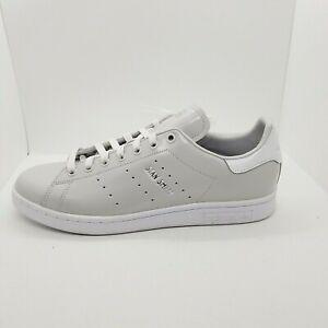Adidas Stan Smith Men's 10 White Light Gray Originals Lace-Up Shoes FX1030 NWOB