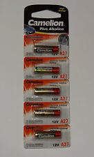 5 Stück Camelion A27 Alkali Batterie 12 V im 5er Blister Remote LR27A 5x 27A