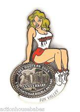 HOOTERS RESTAURANT 20th ANNIVERSARY GIRL FOX VALLEY LAPEL BADGE PIN