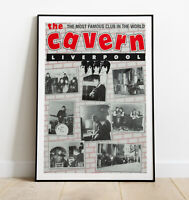 The Cavern Print, Beatles Poster, Repro Beatles Poster, The Cavern Club