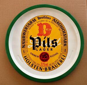 PILS LAGER HOLSTEN BRAUEREI Pub Bar Beer tray Retro