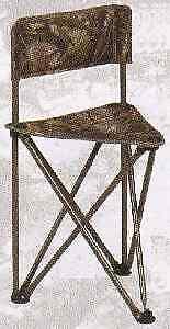 "Hunters Specialties 07286 Camo Tripod Chair W/ Back 19"" Seat Hgh 30"" OA Hgh"
