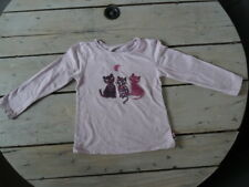 T-shirt parme manches longues col rond brodé chats SERGENT MAJOR Taille 5 ans