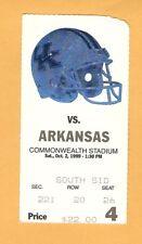 Arkansas Razorbacks Kentucky Wildcats 1999 Football ticket stub 77M
