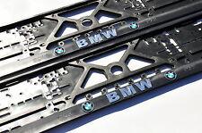 2x Car Licence Number Plate Surrounds Holder Frames 3d for BMW