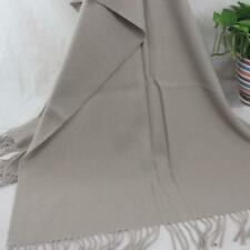 Vintage Women Man Solid Long Cashmere Wool Blend Soft Warm Wrap Shawl Scarf 272