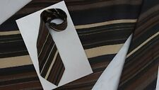 Dino Cesare Vintage Men's 100% Silk Neck Tie 60's 70's Stripe Brown Wide Italy