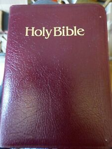 A LEATHER BOUND BOOK  - HOLY BIBLE ,THE NEW KING JAMES VERSION