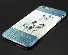 Running Horse Cowboy Protective Hard Case Shell Skin Cover for iPhone 6 Plus