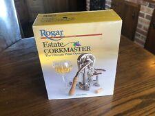 Rogar Estate Corkmaster Wine Opener. New Open Box