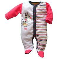 BNWT Baby Girls Light Pink  Babygrow Bodysuit 100/% Cotton 3-6//6-9//9-12//12-18m