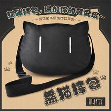 Cartoon Black Cat Women Messenger Bag Cross Body Shoulder Purse Handbag Satchel