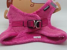 "Best Pet Supplies Dog Harness LARGE 18-21"" Chest Corduroy Pink Fuchsia  206-FU"