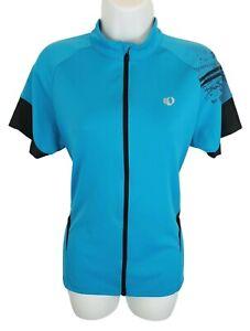 Pearl Izumi Select Womens Top Cycling Jersey XL Blue Pockets Zip Short Sleeve