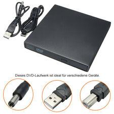 Externes DVD Laufwerk USB 2.0 Brenner Slim CD DVD-RW Brenner für PC Laptop