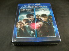 Harry Potter And The Deathly Hallows Part 1 & 2 Rare OOP 3D Blu-ray w/Lenticular