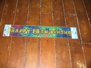JOB LOT 11 BRAND NEW HAPPY 18TH BIRTHDAY SUPER SIZE PARTY BANNERS PARTY ON