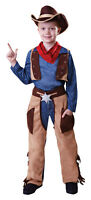 Cowboy Boys Kids Childrens Costume Outfit Woody Western Fancy Dress Age 4 - 9