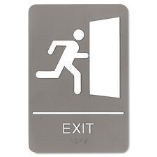 Headline Sign Ada Sign 6 x 9 Exit Gray 5402
