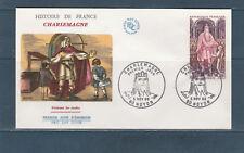 enveloppe 1er jour histoire de France Charlemagne 60 Noyon 1966