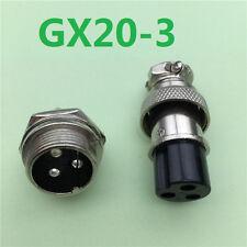 1pcs GX20 3 Pin Male Female 20mm Wire Panel Connector Aviation Plug L95 Socket