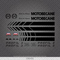 Motobecane Bicycle Frame Stickers - Profil 2 - Profil 3 - Decals