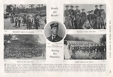 1900 BOER WAR THE LATE COM. F G EGERTON RN, SAVING THE SITUATION, 5 IMAGES