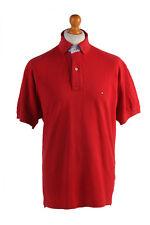 Tommy Hilfilger Vintage Informal Hombre Polo rojo talla L - pt0444