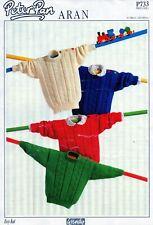 """~ Wendy Peter Pan Knitting Pattern For Baby/Toddler Aran Sweaters ~ 20"""" ~ 26"""" ~"""