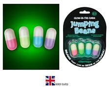 4 x GLOW IN THE DARK JUMPING BEANS Party Bag Stocking Filler Kids Toy Gift UK