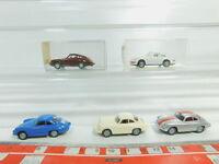 BO608-0,5# 5x Wiking H0/1:87 PKW Porsche: 161 911 + 164 Carrera etc, NEUW+2x OVP