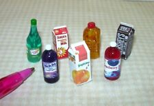 Miniature Beverages/Drinks Assortment (7): DOLLHOUSE 1:12