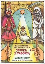 Pologne Cracovie artistes Carte Wisniak théâtre de marionnettes szopka Z zagorza Nativité