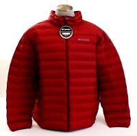 Columbia Dark Red Lake 22 Down Filled Zip Front Jacket Men's NWT