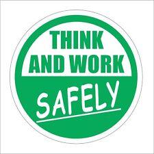 3M Graphics Think And Work Vinyl Hard Hat Car Truck Decal Sticker Helmet Decor