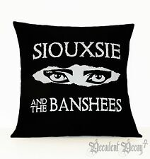 Siouxsie and the Banshees Goth Pillow Gothic Home Decor Housewares Black Cover