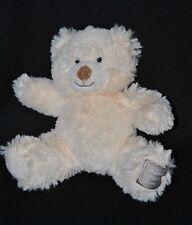 Peluche doudou ours HISTOIRE D'OURS blanc crème yeux durs 23 cm NEUF