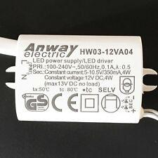 LED  Treiber Trafo ANWAY HW03-12VA04 Netzteil Ersatztrafo Driver 350mA 4W