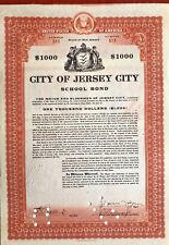 Jersey City school bond certificate > Mayor Frank Hague signature autograph