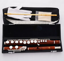 Professional Grenadilla Rose Woode Alto Flute With G key Italian pad Leather Cas