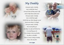 DADDY GIFT (Personalised Laminated COLOUR PHOTO Gift) -A4 size