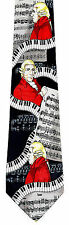 Piano Composer Mens Neck Tie Music Blue Necktie Musical Instrument Musician New