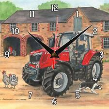 No.250 Massey Ferguson 7616 Tractor Sue Podbery Wall clock handmade gift present